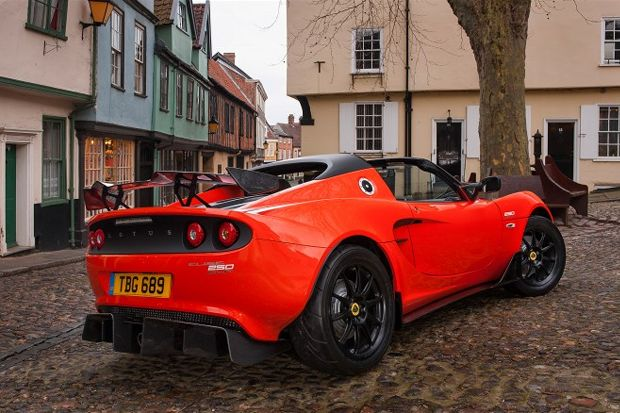 Lotus Elise Cup 250 Rear Side View 660x438